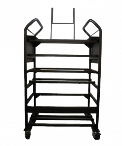 Black Metal Detailing Cart