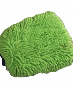 Green Micro Chenille Wash Mitt With Cuff