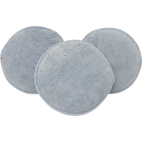 Round Microfiber Wax Applicator With Pouch