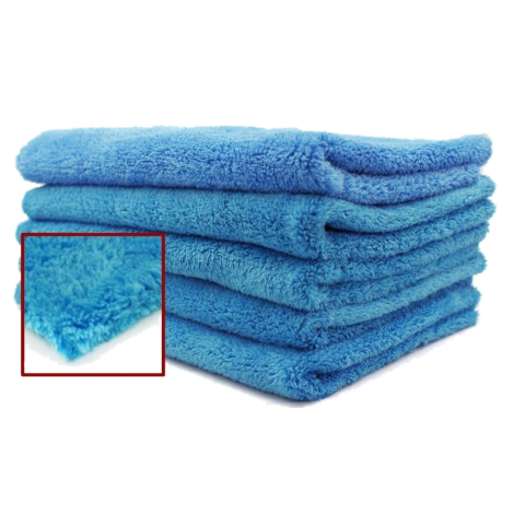 Blue Edgeless Ultra Plush Microfiber Towel