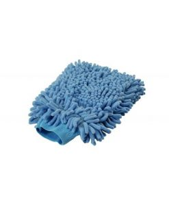 BLUE MICROFIBER WASH MITT
