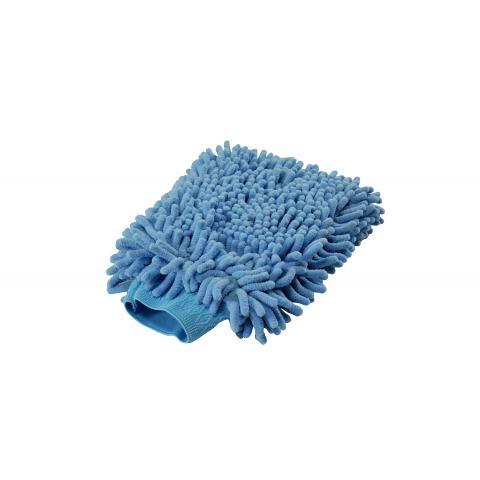 BLUE MICROFIBER WASH MITT