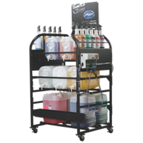 Car Brite Chemicals Complete SELECT Rack Kit English/French-CB-0101