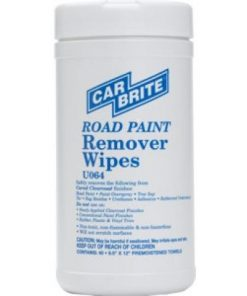 Car Brite Chemicals Road Paint Remover Wipes 6 Tubs/Case