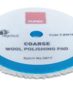 Coarse wool polishing pads for random orbital, gear driven, and triple action