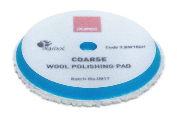 Coarse wool polishing pads for random orbital, gear driven, and triple action