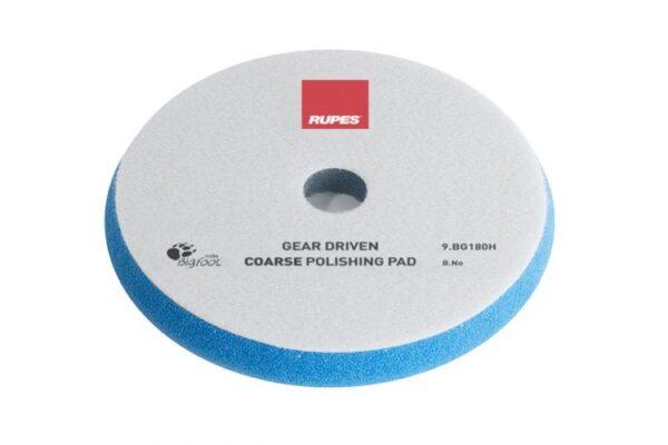 Coarse polishing foam pads for gear driven