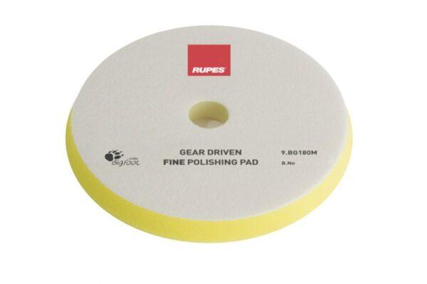 Fine polishing foam pads for gear driven